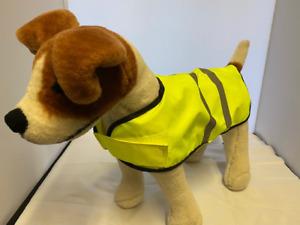 HIGH VISABILITY HI VIZ HI VIS DOG SAFTEY JACKET COAT VEST REFLECTIVE YELLOW
