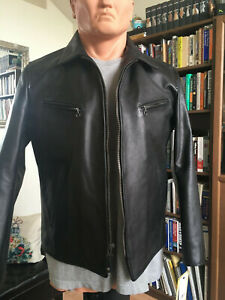 Schott NYC Men's Retro Style Naked Cowhide Jacket Style 165. Made in the USA.