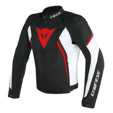 GIACCA DAINESE AVRO D2 TEX NERO BIANCO ROSSO TG.54