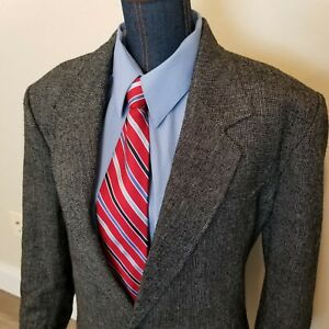 Vintage PIONEER WEAR Mens Cowboy WESTERN Tweed Sport Coat Jacket Blazer 48L USA