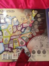 More details for usa quarters full set of 56 coins and collectors map