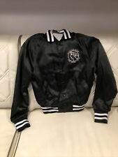 Barry Manilow 1980 World Tour Black Satin Jacket Size Small Worn Once