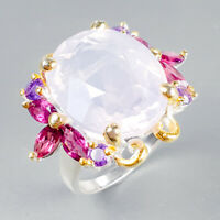 18x13mm 24ct Natural Lavender Amethyst 925 Sterling Silver Ring Size 7.5/R122726