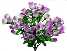 MANY COLORS ~ 70 Mini Roses Buds Bride Bouquet Centerpieces Silk Wedding Flowers