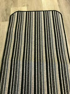 Striped BlueGrey Runner 8ftx1.10ft 243.84cmx55.88cm HallwayBedroomLoungeKitchen