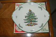 """Spode """"Christmas Tree"""" - Cake plate with handles - in original box."""