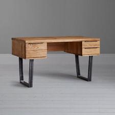 John Lewis Calia Oak & Iron 3 Drawer Desk, Oak