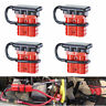 4pcs 50A 12V LARGE CABLE TERMINAL BATTERY POWER QUICK CONNECTOR RED Winch Plug