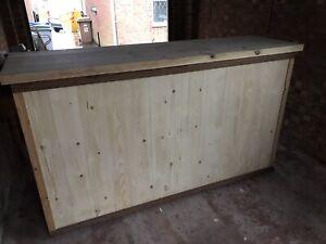 Man Cave Pub Bar, Shop Counter, Bistro, Retro Bar 2m X 600mm X 1150mm