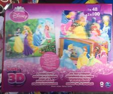 Lot Revendeur Destockage De 1 Boite 3 Puzzles 3 D Princesses Disney Ref Lp909