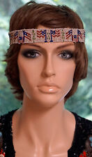 American Indian Native American NW Tribe Beaded Hat band Headband US FLAGS
