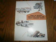 1959 Ford Trucks Sales Brochure - How to select right truck for Farming Needs