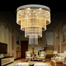 Staircase Chandelier Villa Living Room Crystal Lamp Ceiling Lighting Round Lamp