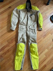 Aerostich Roadcrafter Mens's R-3 Light One Piece. Tan/HiVis. Size 40R.