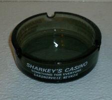 """Sharkey's Casino Ashtray Gardnerville NV Vtg Glass Ash Tray 3.5"""""""