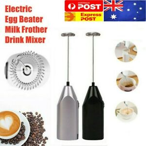 Electric Mini Foamer Kitchen Tool Milk Frother Egg Beater Stirrer Whisk Mixer AU