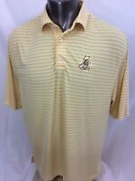 FootJoy Yellow Striped Golf Shirt Polo Size Large