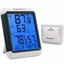 Digital LCD Indoor & Outdoor Thermometer Room Hygrometer Wireless Humidity Meter