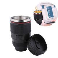 Camera Lens Cup 24-105 Coffee Travel Mug Stainless Steel Leak-Proof Lid 400ml