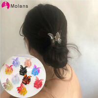 Ladies Color Hair Pins Clips Butterfly Hair Claw Catch Ponytail Hair Accessories
