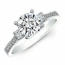 1.50 Ct Wedding Engagement Ring Solid 14k White Gold