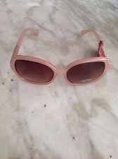 Bob Mackie Nude Color Sunglasses Oversized Squared Eyes
