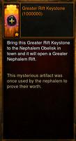 Diablo 3 ROS PS4 Greater Rift Keystones 1 Million each (Never Farm Keystones)