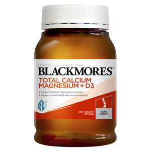 Blackmores Total Calcium Magnesium + D3 200 Tablets Helps Prevent Osteoporosis