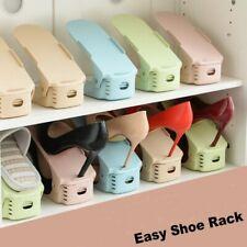 Pack of 5 Easy Shoe Rack Adjustable Slots Organizer Space Saver Holder