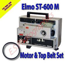 ELMO ST-600 M Super 8mm Cine Projector Drive Belts Set of 2