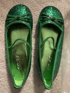 Emerald Green Glitter Shoes - Size 13/1