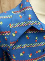 Women's 70s Vintage Suit Blue A-Line Skirt with Blouse - Great Lapels 12