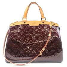 Authentic Louis Vuitton Vernis Brea GM 2Way Hand Bag Amarante M91619 Used F/S