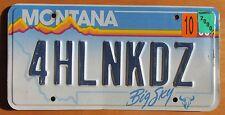 Montana 2000 VANITY License Plate FOR HAULING KIDS