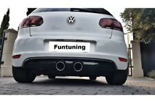 Scarico Sportivo + SPOILER POSTERIORE DIFFUSORE DUPLEX R20 R32 VW GOLF 6 VI R