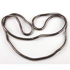 11Pcs Free Ship Gun Black Flexible bendy Twist Snake Necklace 90cm 160020
