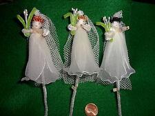 3 Vintage Spun Cotton Brides