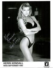 KERRI KENDALL 09/1990 PLAYBOY PLAYMATE SEXY SIGNED PROMO PHOTO
