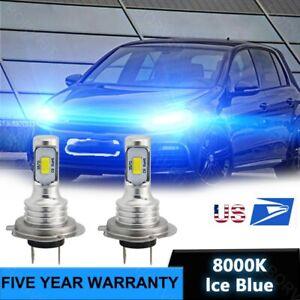 LED Headlight Bulbs For VW Passat Jetta Golf Tiguan H7 Ice blue Hi/Low Beam 80W