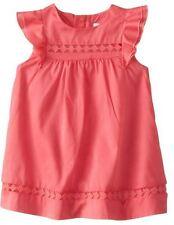 $143 NEW Chloe Baby Girls Dark Pink Woven Flutter Short Sleeve Dress US 3 Months
