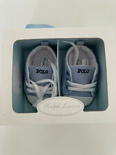 Polo Ralph Lauren Baby Shoes Blue Oxford UK1.5 NEW WITH BOX