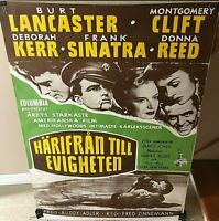 """""""FROM HERE TO ETERNITY"""" INSANELY RARE ORIG 1953 """"FULL-BLEED"""" SWEDISH 1-SH POSTER"""