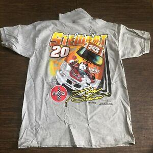 Tony Stewart #20 Gildan Polo Shirt Home Depot NASCAR Large Back Print, Size L