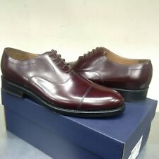 Clarks Bostonian Rhodes Cap Burgundy Leather Classic Welted Oxford Shoes UK 10 G
