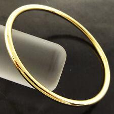 Bangle Bracelet Real 18k Yellow G/F Gold Solid Girls Golf Cuff Design 50mm