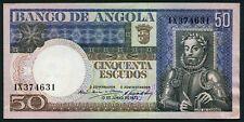 Angola 50 escudos 1973.06.10. Luiz de Camoes & Coffee Plant P105 aUNC/XF