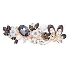 Flower Rhinestone Pearl Crystal Hair Clips Hairpin Barrettes Women Headband