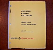 New Holland Service Parts Catalog L-779 Skid-Steer Loader May 1982 (5077912)