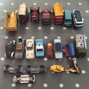 Vintage Corgi & Junior Vehicles Job Lot Approx. 20 Items Toys Cars Tractor