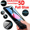 PREMIUM 5D Gorilla Tempered Glass Screen Protector For Apple Various iPhone